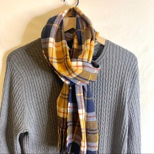 Old Navy Blue Striped Neck Scarf NWT